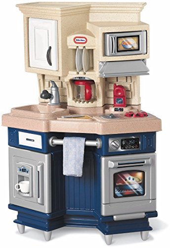 Modern Styled Toy Kitchen Pretend Play Set W Realistic Mimicking Toys