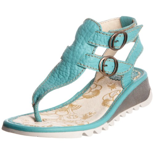 Fly London Women's Teck Aquamarine Thong Sandal P500192010 3 UK