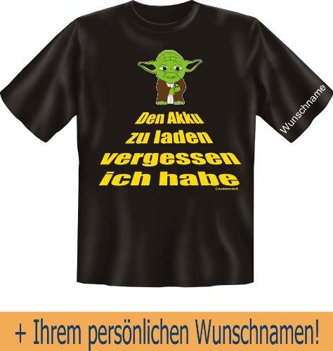 T-Shirt mit Wunschname - Den Akku zu laden vergessen ich habe - Lustiges Sprüche Shirt als Geschenk für Computer Nerds mit Humor - NEU mit persönlichem Namen