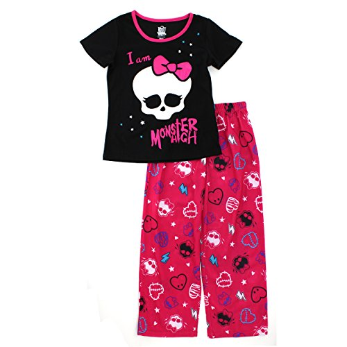 Monster High Girls Black Poly Pajamas