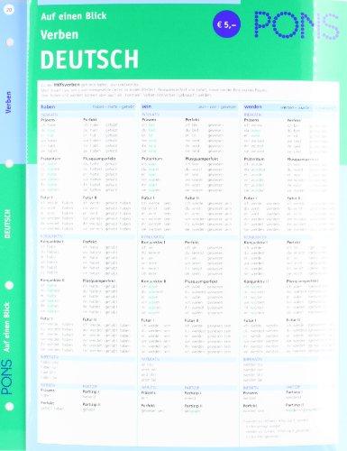PONS Verben auf einen Blick. Deutsch