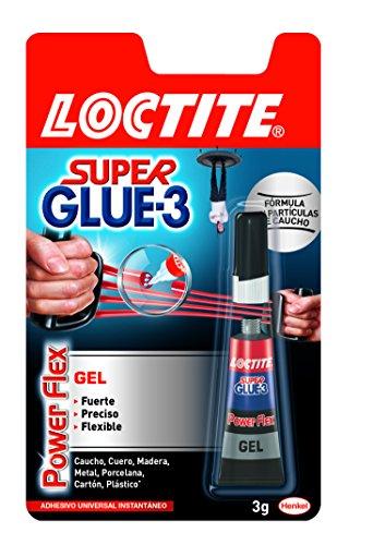 Loctite Super Glue-3 Power Flex - Adhesivo multimaterial (3 g), 1 unit