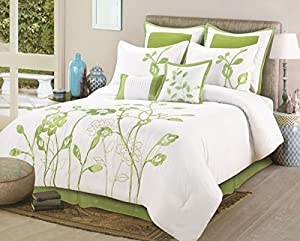 Amazon Com 8 Pieces Luxury White Sage Green Lily With