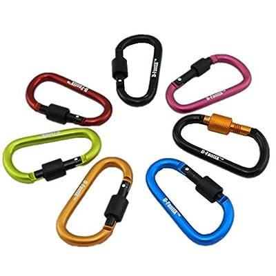 D-FantiX Aluminum D-ring Locking Carabiner Keychain Spring Clip Lock Carabiner Hook Outdoor Camping Equipment