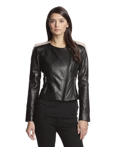 Vince Camuto Women's Colorblock Leather Jacket