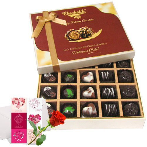 Valentine Chocholik's Belgium Chocolates - Luxurious Collection Of Dark And Milk Chocolate Box With Love Card...