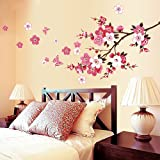 Peach Blossom DIY Removable Art Vinyl Quote Wall Sticker Decal Mural Home Room D¨¦cor