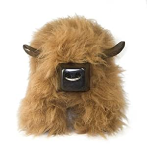 Sheepskin Bull Stool Highland Cow Ginger       Customer reviews and more information