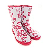 Half Height Pink Floral Rain Boots