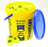 Slazenger Value Tennis Balls Bucket Recreational Practice Training Set Of 60