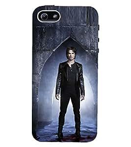 D KAUR Damon Salvatore Fans Love Back Case Cover for Apple iPhone 5::Apple iPhone 5S