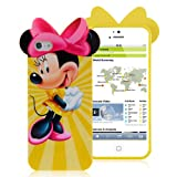 Disney Smiling Minnie Mouse iphone 5 and 5G / 5S Thick Silicone Hard Gel TPU Back Case Cover