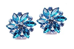 Absolutely Audrey Amanda Blue Shoe Clips