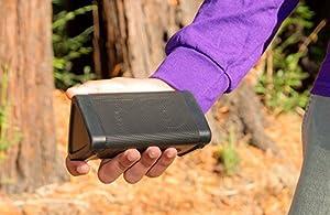 Bocinas OontZ Angle 3 ultra portátiles inalámbricas Bluetooth resistentes al agua, negro