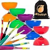 Juggle Dream Big Top Diabolo, Superglass Fibre Diablo Sticks & Firetoys Bag (Blue Diabolo/Black Sticks) (Color: Blue Diabolo/Black Sticks)