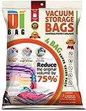 DIBAG ® 4er-Pack Platzsparende Vakuum-Kleiderbeutel 2x(100X80 cm) mit Ventil + 2x Reise Roll-Up Bag (57x45 cm)ohne Absaugung/ohne Ventil. Neue 2015-Modell