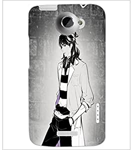 PrintDhaba Tom Girl D-6070 Back Case Cover for HTC ONE X (Multi-Coloured)