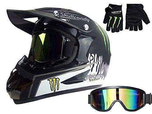 Myheartgoon-Motocross-Helmet-Dirtbike-Racing-Helmet-Black-Silver