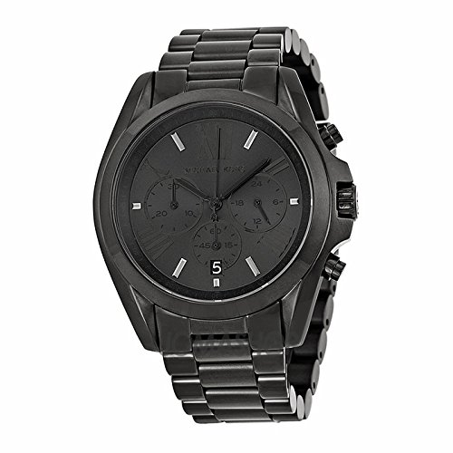 Michael Kors Michael Kors Bradshaw Cronógrafo Negro Dial Negro Ion-plateada Unisex Reloj MK5550