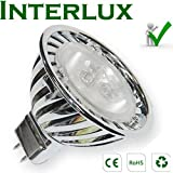 3W Interlux™ MR16 Brilliant White; High power USA chip LEDby Interlux