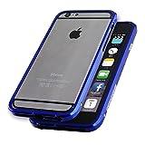 LJY SWORD6 SWORD iPhone 6/6S/6 Plus 光沢 単色 アルミニウム アルミ バンパー ケース バンパーケース 高級 ブルー アイフォン6 アイフォン 軽量 (iPhone 6, ブルー)