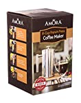Amora Stainless Steel French Coffee Press - Double Screen Filter Coffee and Tea Maker - Double Wall Pot Keeps Coffee Warm - Best For Home, Commercial, Camping, Travel - 1 Liter (8 Cups) made by Amora