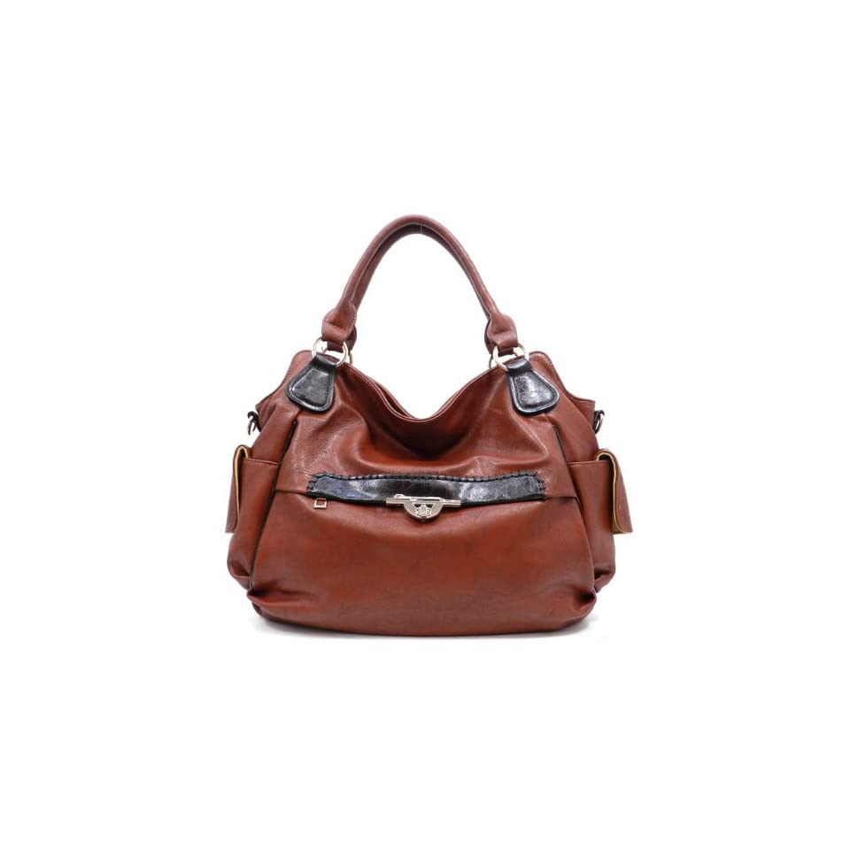K0111 MyLUX Unique Limited Close Out High Quality Women/Girl Fashion Designer Work School Office Lady Student Handbag Shoulder Bag Purse Totes Satchel Clutches Hobos (brown)