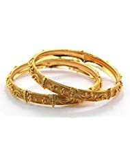 Peach & Glory Gold Plated Bangle For Women SIZE 2.8 (A185-28)