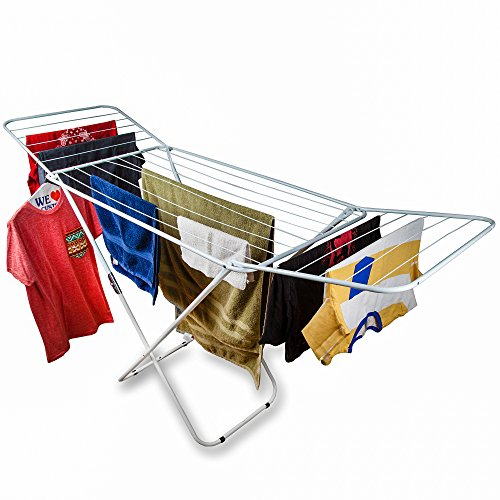 Home Intuition Foldable Drying Rack Clothes Dryer, White (Baby Clothes Dryer Rack compare prices)