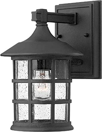 """Hinkley Lighting 1800 9.25"""" Height 1 Light Lantern Outdoor Wall Sconce from the, Black"""