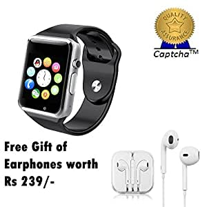 BlackBerry Z3 Compatible Ceritfied High Quality Touch Screen Bluetooth Smart Watch with SIM Card Slot And NFC Cell Phone Watch Phone Remote Camera(Assorted Color) with FREE GIFT