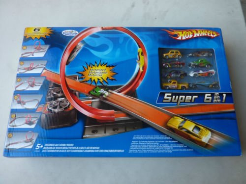 Hot Wheels Motorized 6 In 1 Track Set With 8 Cars Included