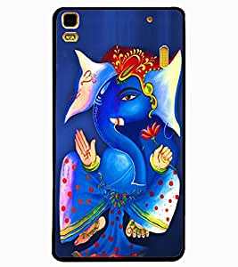 ColourCraft Lord Ganesha Design Back Case Cover for LENOVO A7000 PLUS