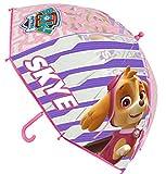 Regalo + paraguas Paw Patrol rosa transparente SKYE 42CM NUEVO!! REGALO DE SALVAMANTEL decorado con imagen FROZEN cortesía tiendadeleggings (incluido)