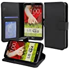 Abacus24-7 [PocketBook] Leather Wallet Case & Cover for LG G2 [At&T, Sprint, T-Mobile], Black