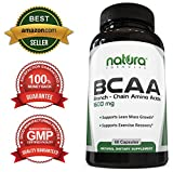 BCAA Capsules - Most Potent Branched Chain Amino Acids on Amazon - Supports in Lean Muscle Growth, Quick Muscle Recovery, Boost Metabolism and Weight Loss - Essential Amino Acids - Leucine, Isoleucine and Valine - Dietary Supplement for Fast Muscle Building, Burn Fat and Rapid Muscle Recovery by Natura Formulas - Manufactured in the USA - Get Results or Your Money Back!