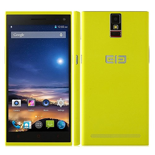 Elephone P2000 5.5″ MTK6592 Octa Core Android 4.4 Cell Phone 2GB RAM 16GB ROM Dual Cameras Front 8.0MP Rear 13.0MP 3G GPS Smart Phone (Yellow)