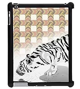 Printvisa 2D Printed White Tiger Designer back case cover for Apple ipad 3 - D4454
