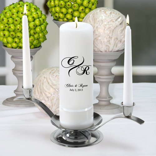 Personalized Unity Wedding Candle - Marquis