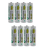 Geilienergy AA NiCd 600 mAh 1.2 V Rechargeable Batteries For Solar light (Pack of 8)