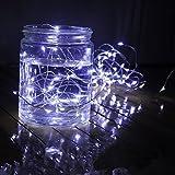 Timewanderer 3m 30er Micro Weiß LED 3xAA Batteriebetrieben Lichterkette Silberdraht
