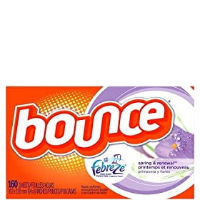 Bounce with Febreze Scent Spring & Renewal Sheets, 160-count Box