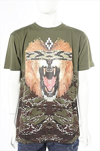 MARCELO BURLON メンズ Tシャツ 半袖 (CMAA018S 001048)【M-カーキ】 並行輸入品