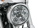 車検対応!最新型 ハーレー純正 LED ヘッドライト クローム 67700144 並行輸入品