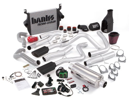 Banks Power 46513 PowerPack System; Performance System; Incl. EconoMind Tuner/Banks iQ/Banks Ram-Air Intake/High-Ram Intake Manif/Techni-Cooler Intercooler/Monster Exhaust; Duals;