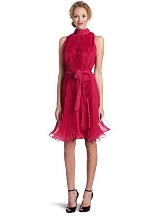 Jones New York Women's Sunburst Pleat Dress, Pink, 6