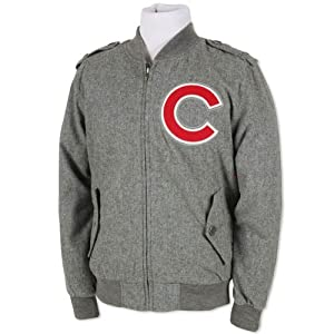 MLB Chicago Cubs Mitchell & Ness Cutter Track Jacket Cooperstown Mens Large LG by Mitchell & Ness
