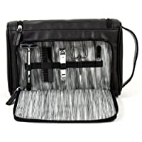 Men's Travel Toiletry Bag w/ 5 pc Manicure Set - Black by Bey-Berk