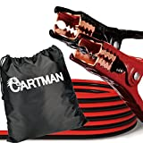 Cartman Heavy Duty Booster Cables 4 Gauge x 20 Feet, Jump Cable with Carry Bag