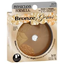 Physicians Formula Bronze Gems Bronzer/Highlighter & Eye Shadow, Matte & Bright, Light Bronzer 2672